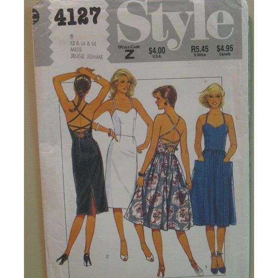 style 4127 size 10-14 1980s