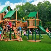 Gorilla Playsets Treasure Trove Swing Set W Timber Shield And