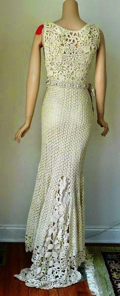 irish crochet dress idea   Tejido   Pinterest   Irish crochet and ...