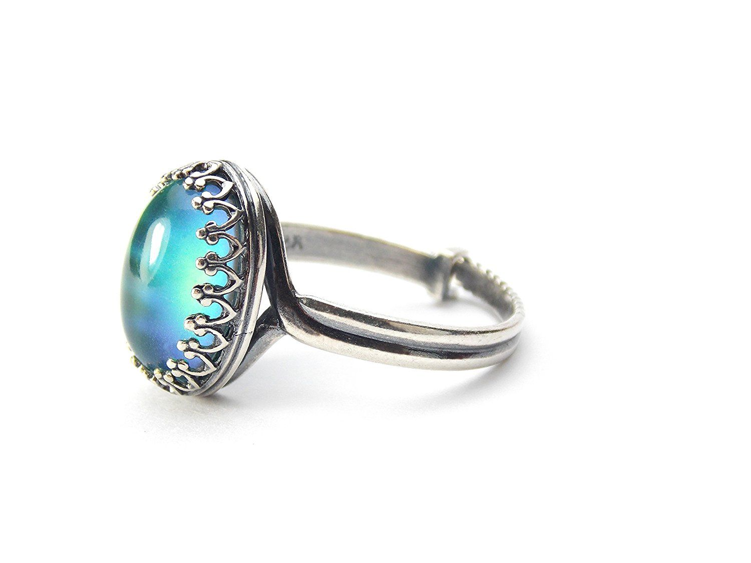 Mood ring antiqued silver plated with color chart far out be mood ring antiqued silver plated with color chart far out be sure to nvjuhfo Image collections
