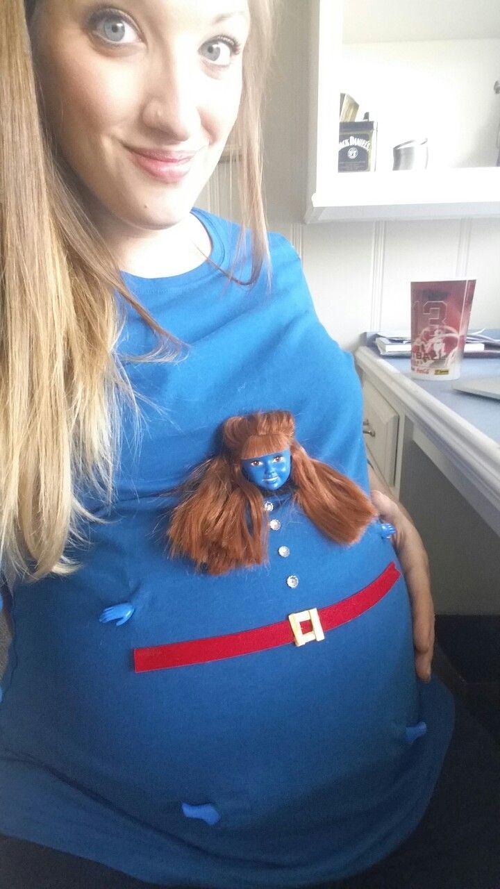 8391664f9866 Willy Wonka - Violet Beauregard maternity Halloween costume | DIY ...