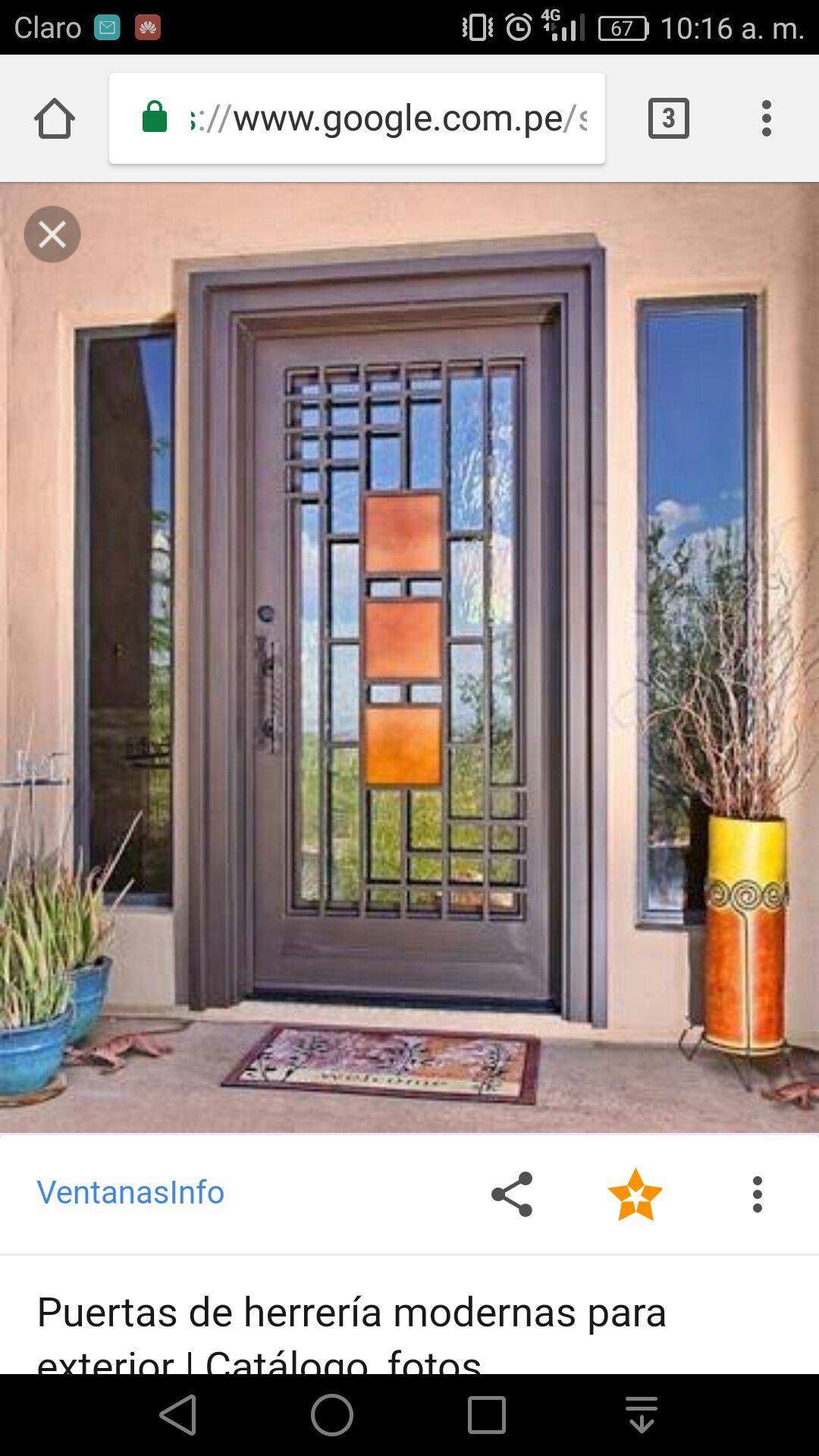 Pin de pedro gonz lez en pedro pinterest casas y for Puertas de metal para interiores