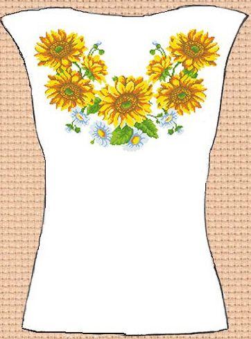 Заготовка для вишивки жіночої сорочки без рукавів (СЖБР-134)