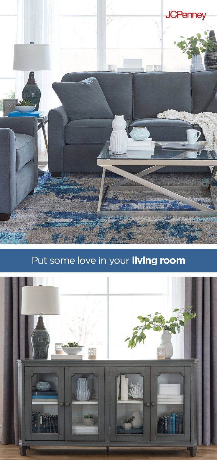 Whether You Re Looking For A Total Living Room Redo Or Just Want To Add A Few Fresh Touches Jcpenney Home Has Eve Living Room Redo Home Minimalist Living Room [ 1555 x 736 Pixel ]