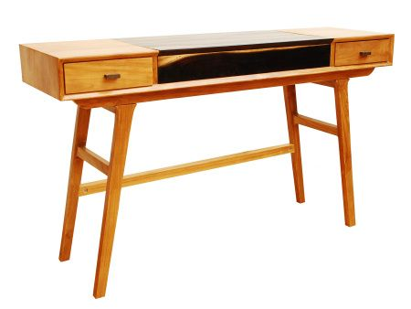 Funky Hall Tables retro console table | 1950's console table | two tone wood console