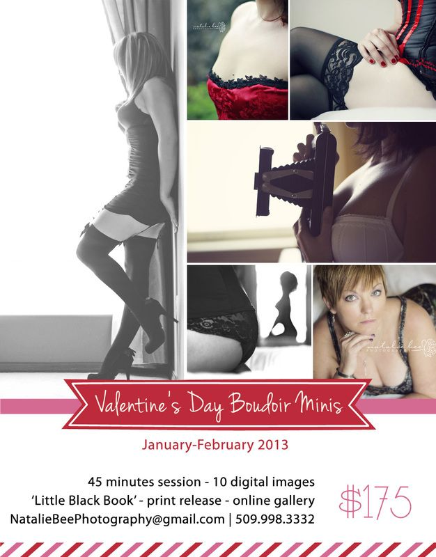 Valentine S Day Boudoir Mini Session Offer From Natalie Bee