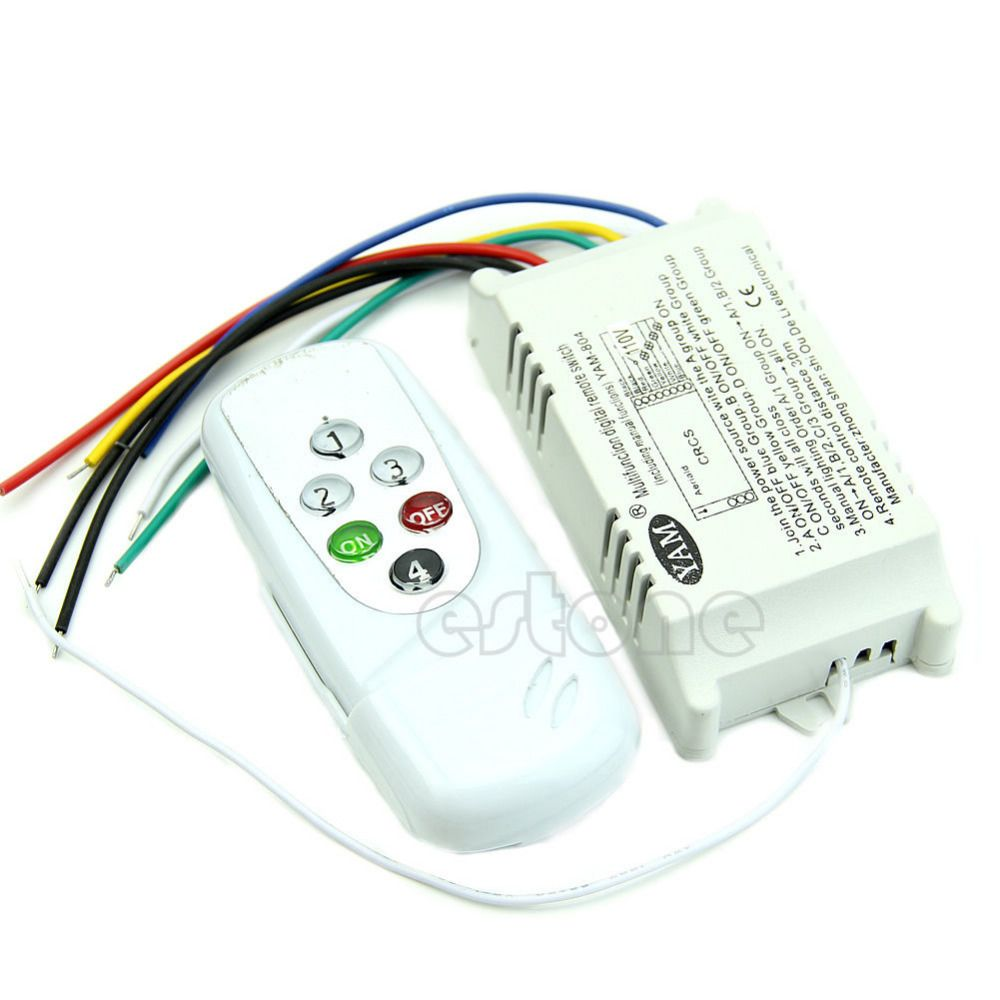 Click To Buy 4 Ways Remote Control On Off 110v Switch Digital Light Switches Electrical Wiring And Lights Pinterest