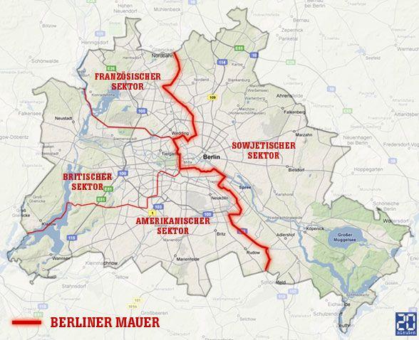 berliner mauer karte deutschland Berliner Mauer Karte der Sektoren | Berliner mauer, Berliner mauer