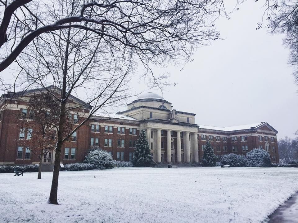 Chambers on a cold snow day, although classes are still in session inside!