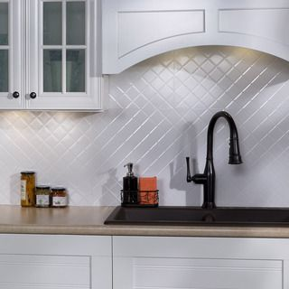 Decorative Wall Tiles Kitchen Backsplash Fasade Traditional Style #1 Brushed Aluminum Backsplash Panel
