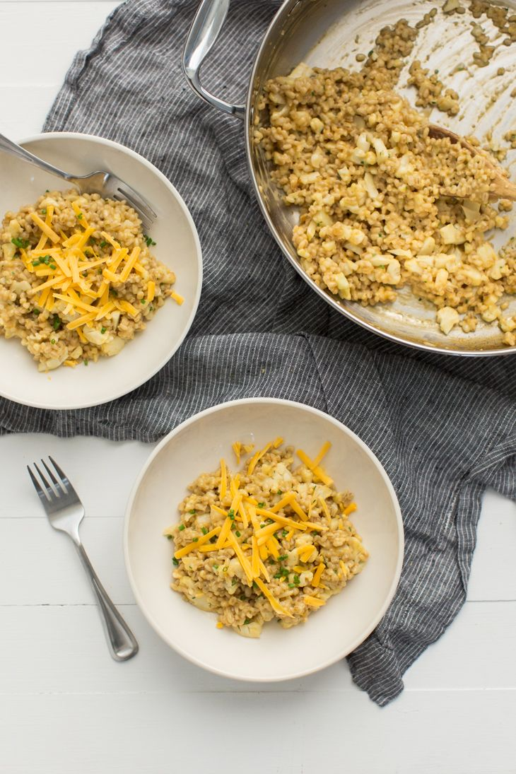 Cauliflower Barley Risotto