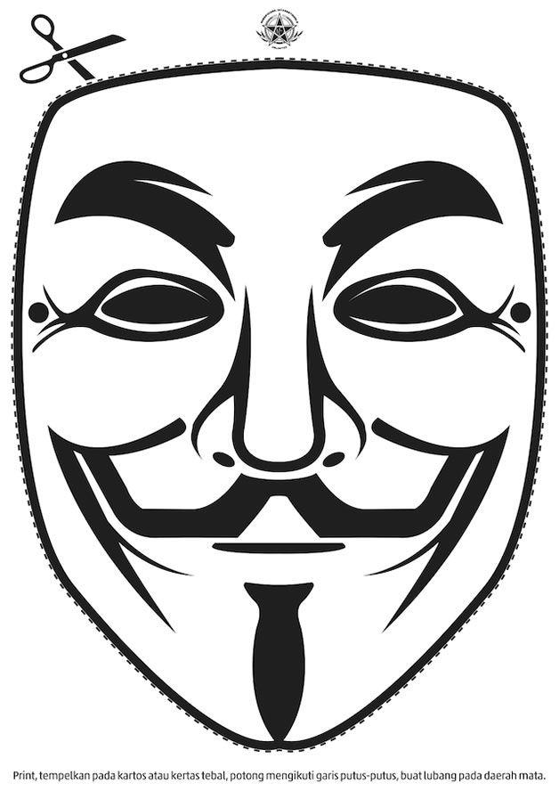V For Vendetta Mask Stencil Pin by Jeweller...