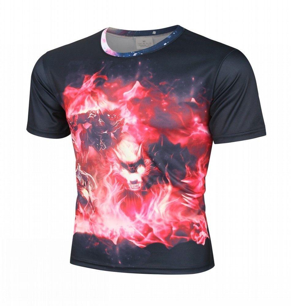 Men's Animal Creative 3d printed short sleeve T Shirt,S-XXXXL,Plus Size