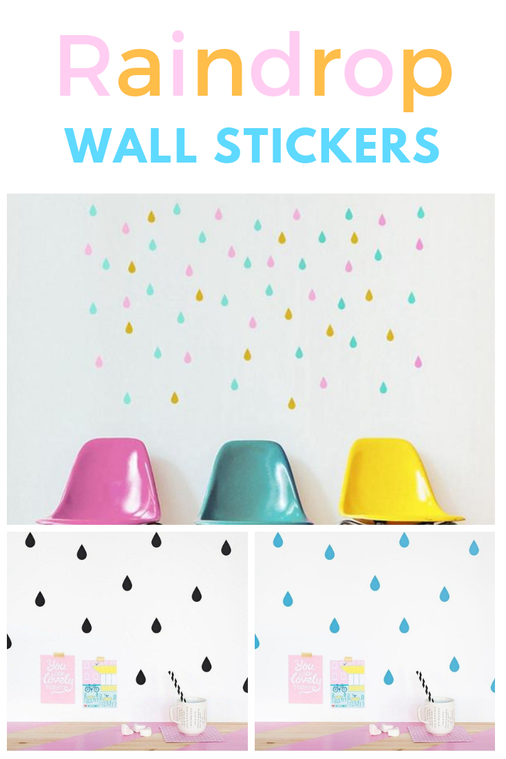 x raindrop pattern wall stickers in diy home and other