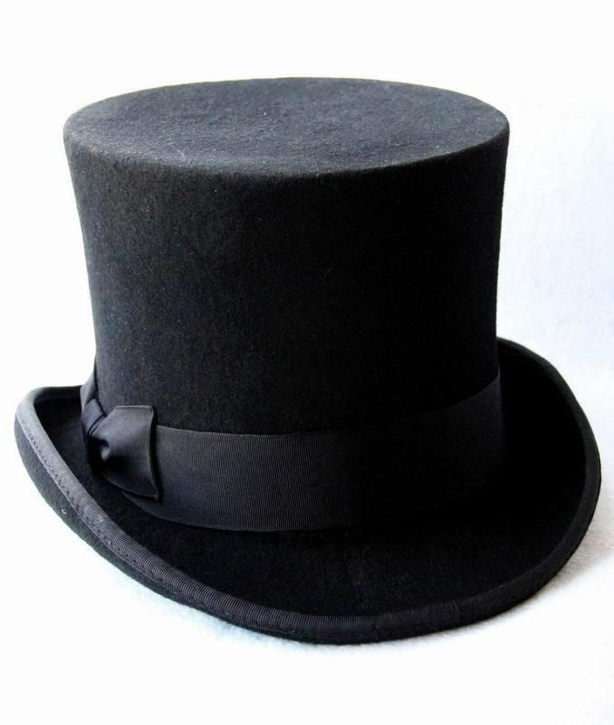 Lihua Victorian Wool Top Hat  8bfd8c5fb6e8