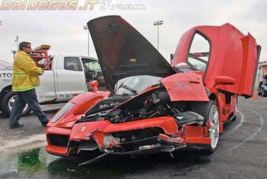 Ferarri Enzo Wrecked Super Cars Car Car Fails