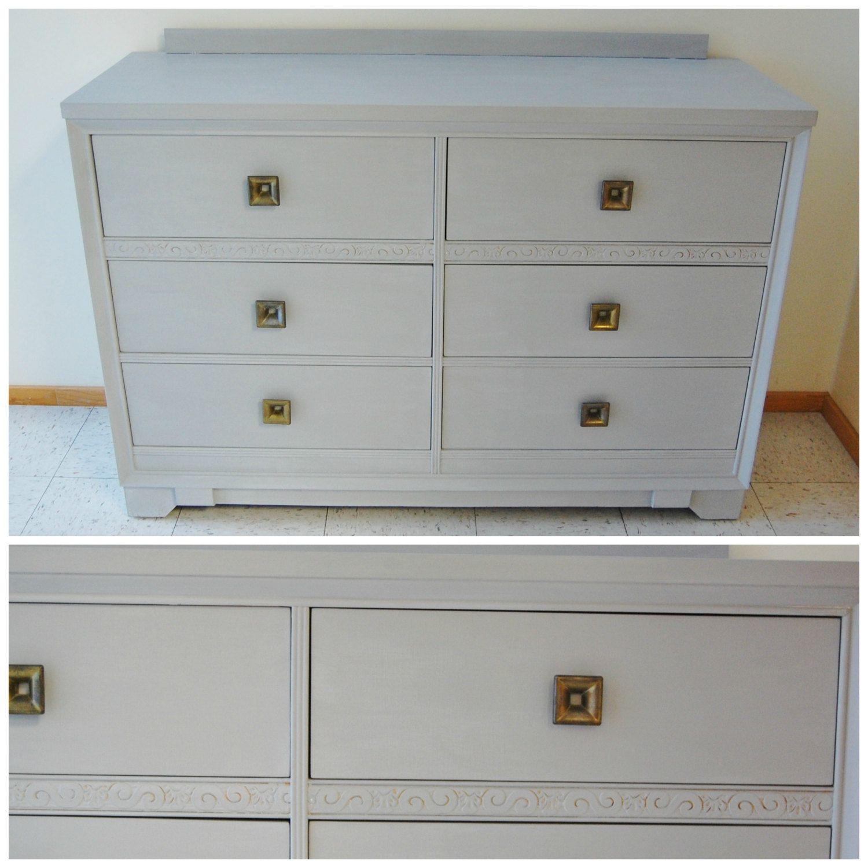 FREE SHIP - Art Deco Lowboy #Bedroom Dresser - Long Six # ...