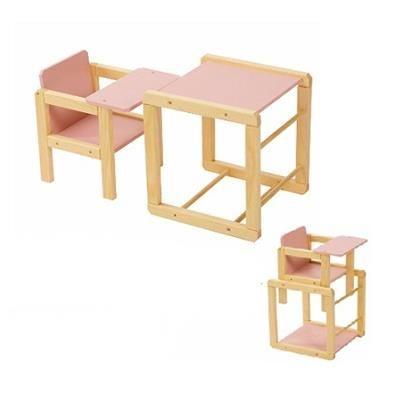Kinderzitje Aan Tafel.Playwood Poppen Kinderstoel Met Tafel Roze Kinderstoelen