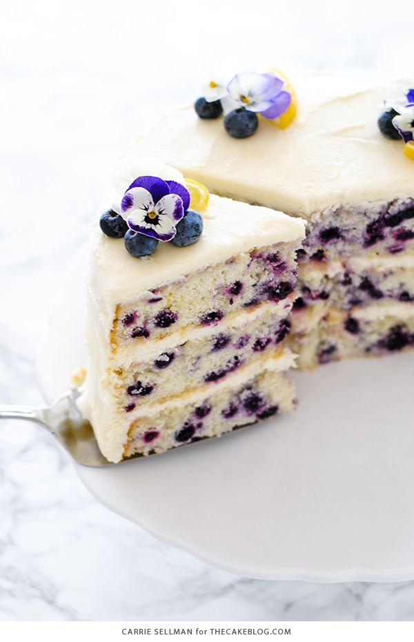 Lemon Blueberry Cake The Cake Blog Recipe Dessert Recipes Easy Desserts Homemade Cakes