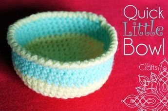 Crochet bowl...easy to make larger. #crochetbowl
