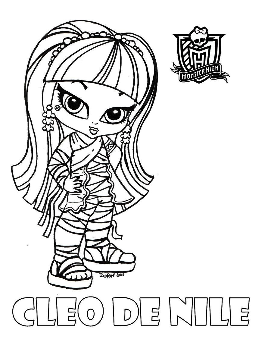 Ausmalbilder Kostenlos Monster High : Baby Monster High Coloring Pages Baby Cleo By Jadedragonne On