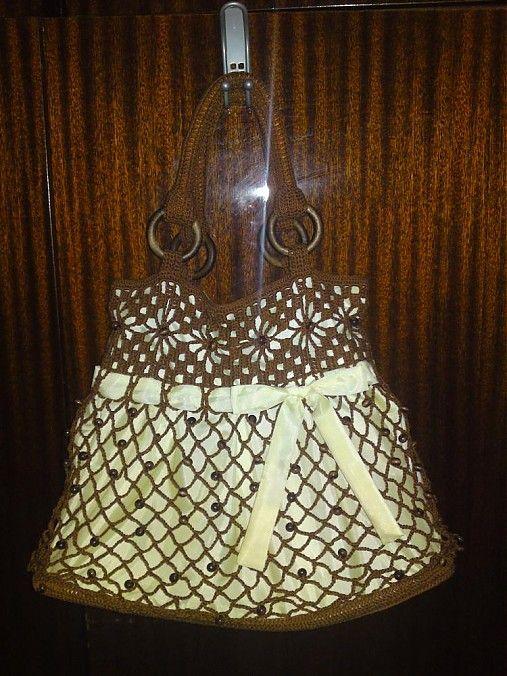 Crochet handbag LiliAnna / Háčkovaná kabelka s korálikmi