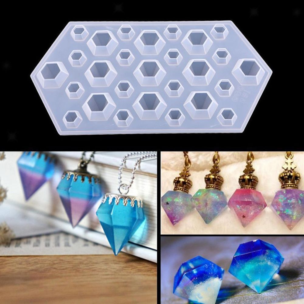 DIY Silicone Mold Crystal Jewelry Pendant Earring Necklace DIY Resin Mould