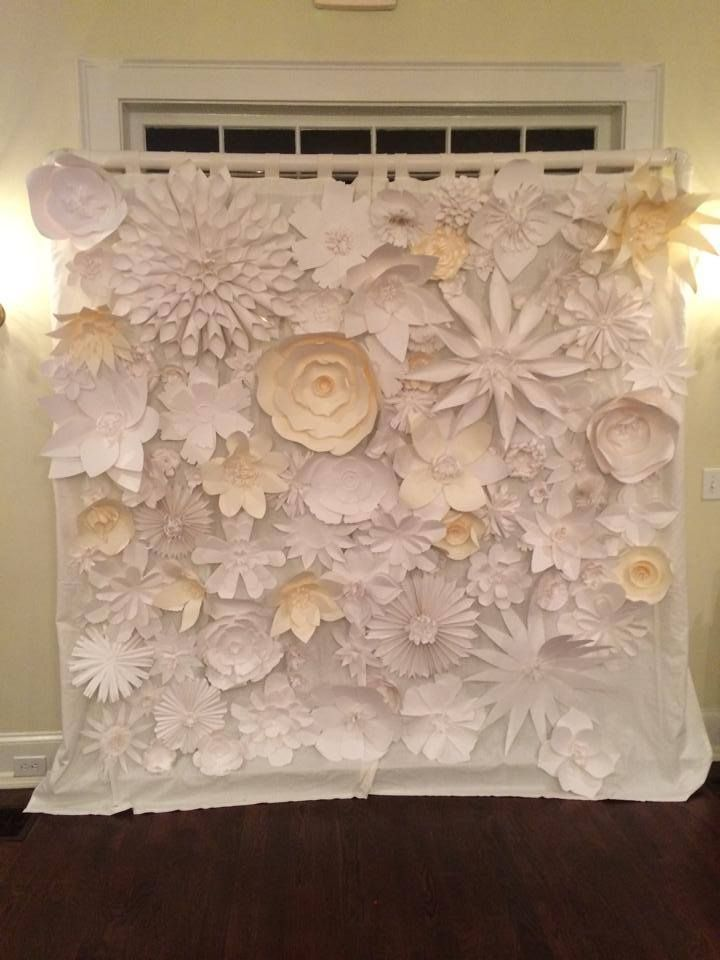 Handmade Paper Flower Backdrop For Wedding Diy Pvc Pipes Shower