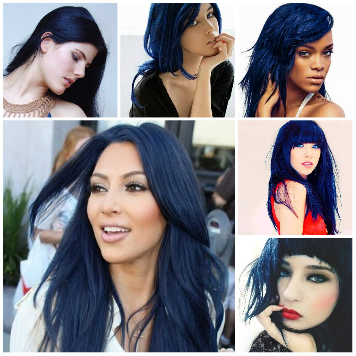 Blue Black Hair Color Ideas 2016 Haircuts Hairstyles 2016 And