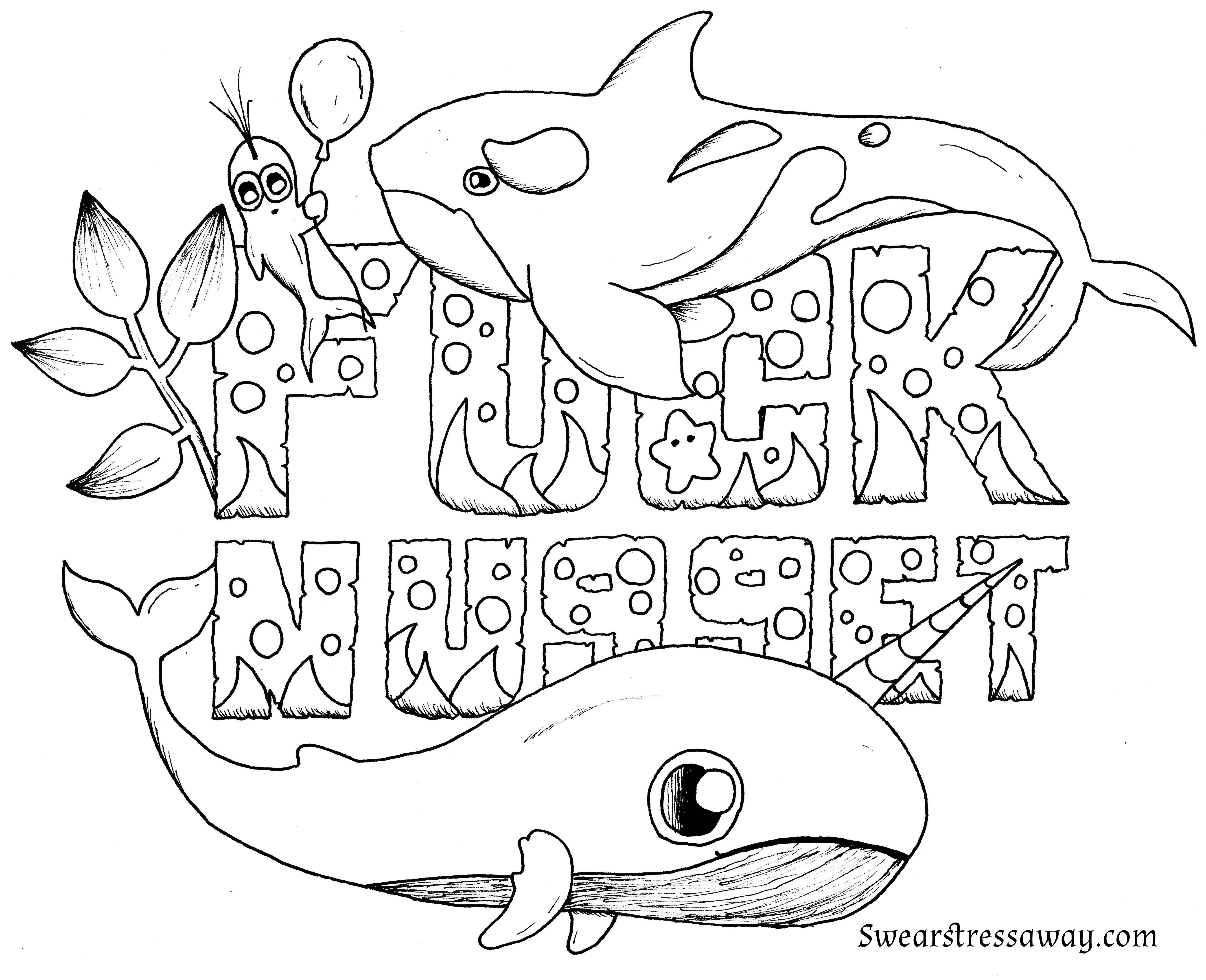 Fucknugget Swear Word Coloring Page Adult Coloring Page