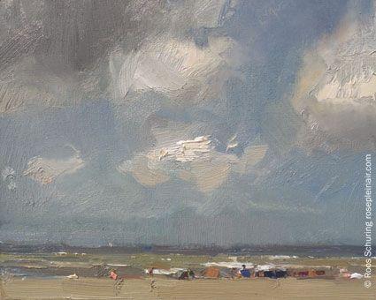 """Seascape Summer 14 """"Sea lit Big sky"""""""