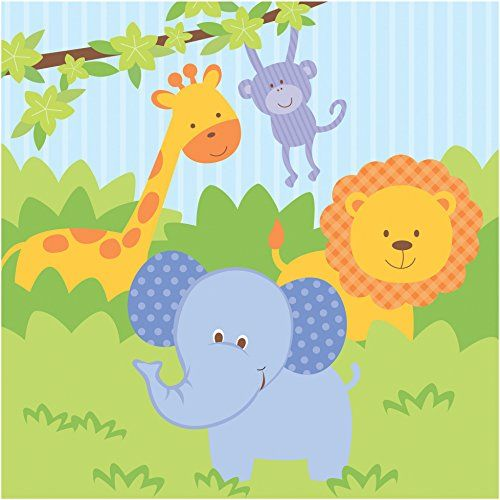 Creative Converting Celebrations 16 Count Forest Friends Lunch Napkins GreenBlueOrange ** See this great product.
