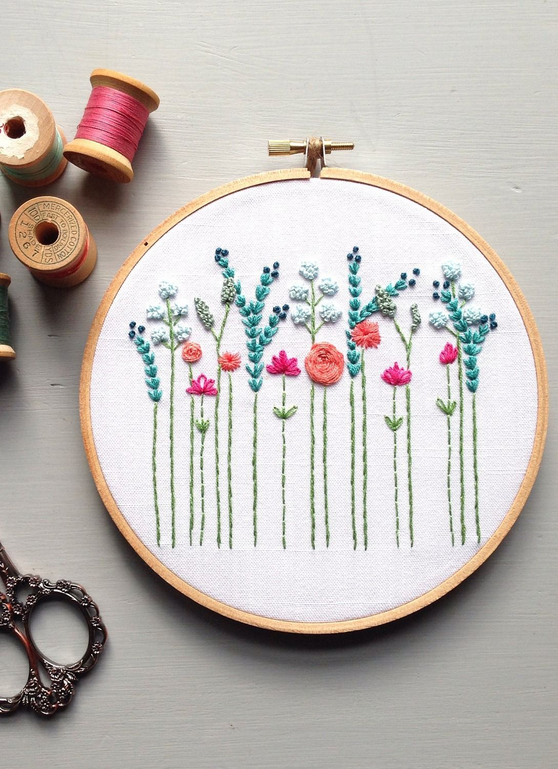 They\'re always in bloom. | Embroidery | Pinterest | Bordado ...