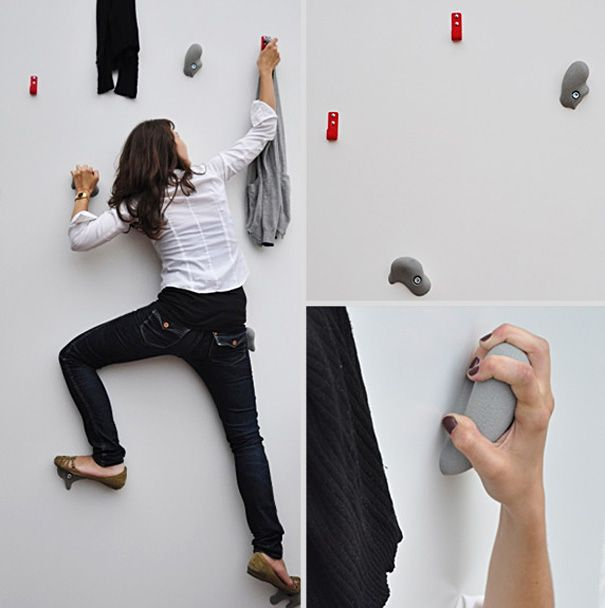 Creative Coat Hooks 20 cool and creative wall hook designs | creative walls, walls and
