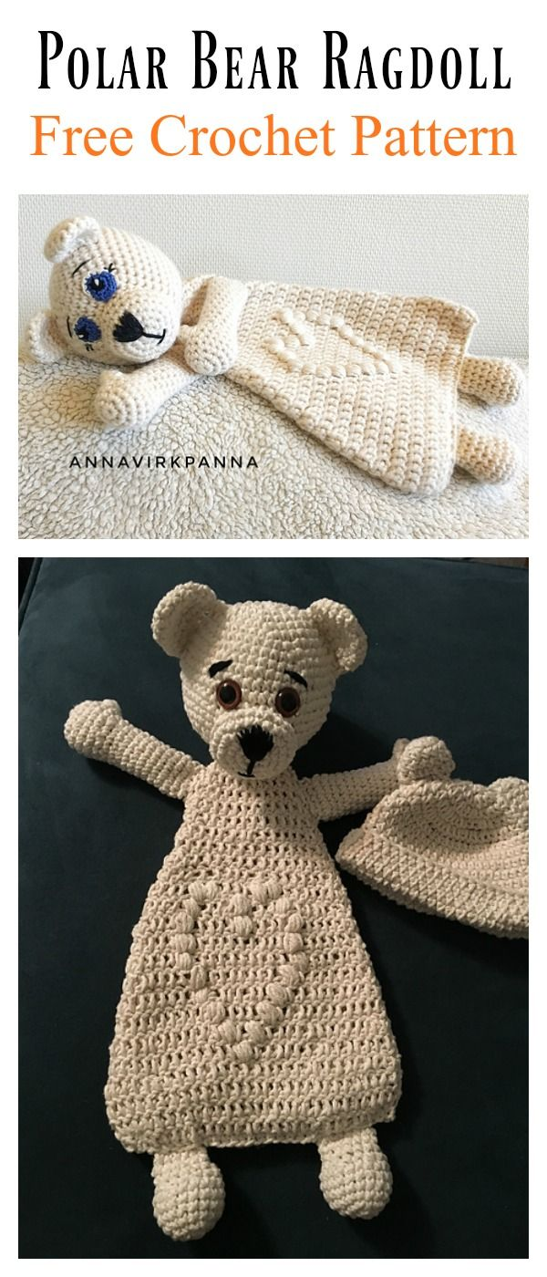 Adorable Polar Bear Ragdoll Free Crochet Pattern | Tejido, Bebé y Osos