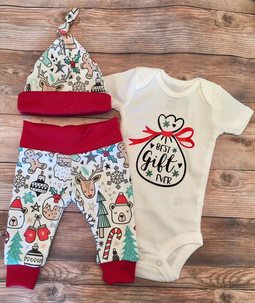 Best Gift Ever Christmas Newborn Coming Home Outfit 8a552996536