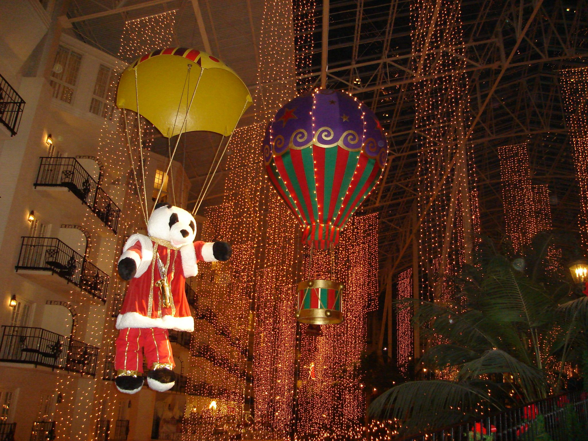 Christmas at the Gaylord Opryland Hotel in Nashville, TN (a ...