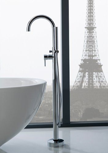 Yanksmart Luxury Single Handle Floor Mounted Bathtub Tap With - Best buy bathroom faucets