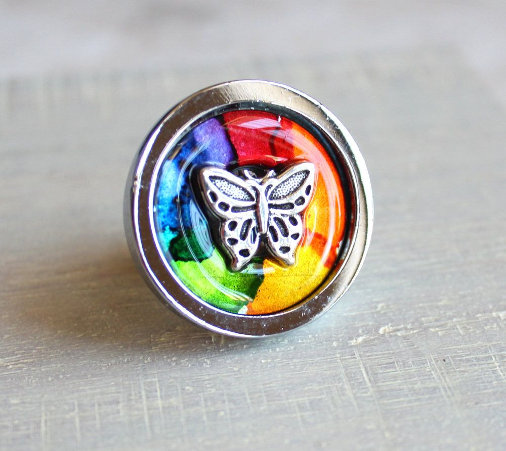 Rainbow Butterfly Drawer Pull, Decorative Drawer Pull, Cabinet Knob,  Childrens Room, Dresser Knob, Dresser Pull, Drawer Knob, Kids Decor By  NatureWithYou On ...
