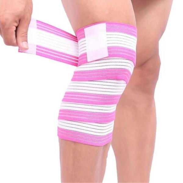 Knee Support Strap Shin Guard Elastic Bandage Tape 90cm 120cm