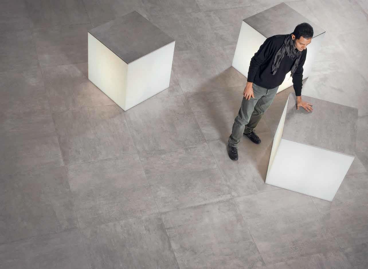 Emilceramica #On Square Cemento 80x80 cm 803B8R | #Feinsteinzeug ...