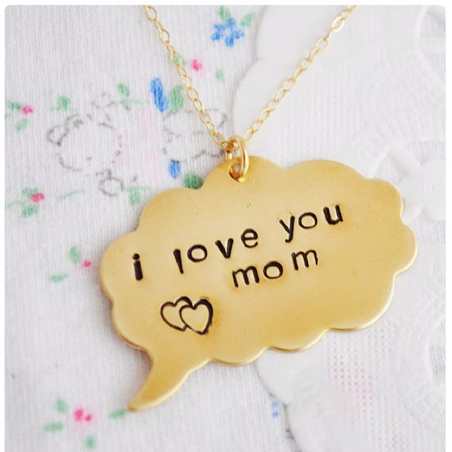 Thought Bubble Necklace (stamped with a personalized message)
