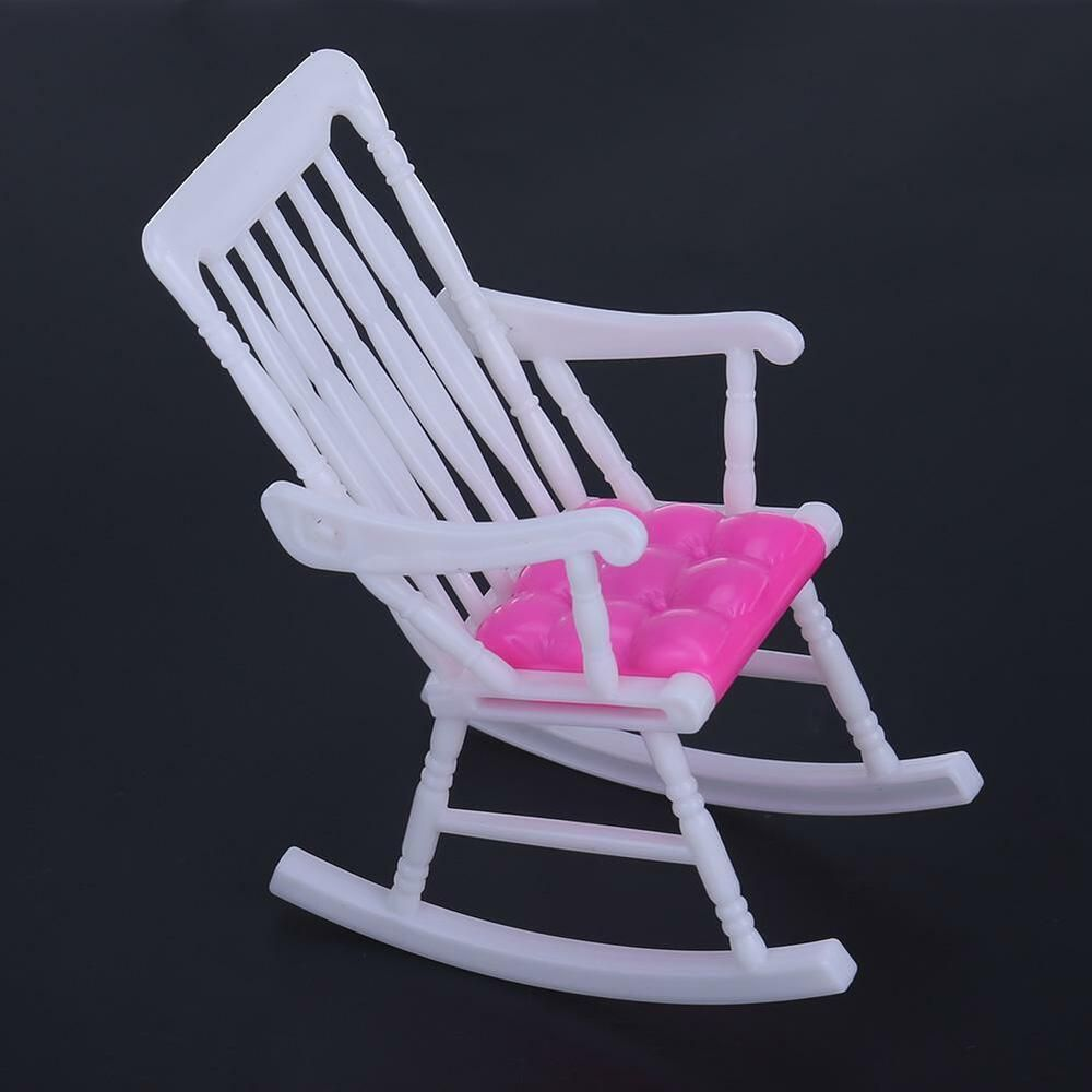 Miniature Doll Rocking Chair Accessories For Doll  Room Dollhouse DecorationV#a