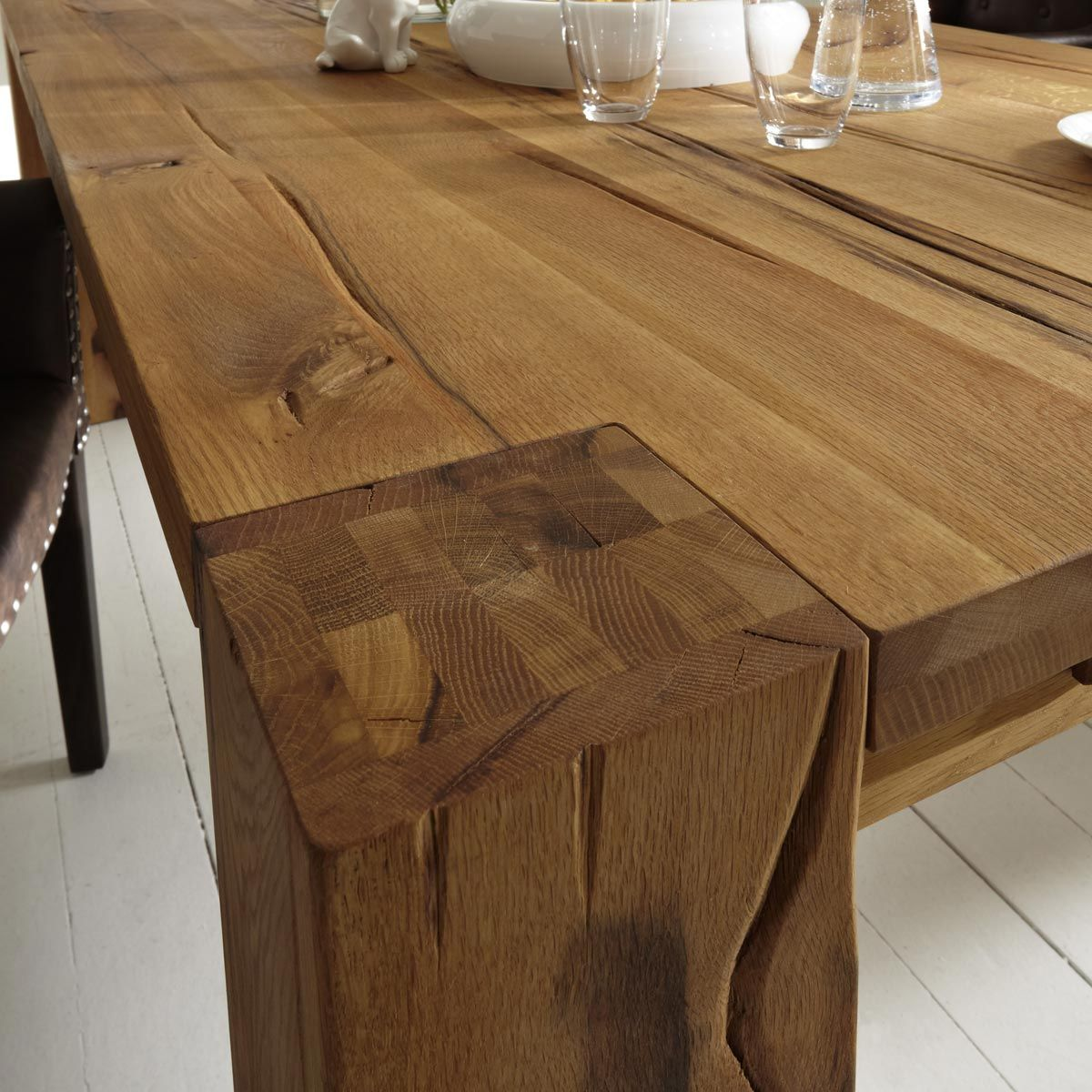 Esstisch Braxton 180x100 In Eiche Massiv Natur Geolt Wood Table