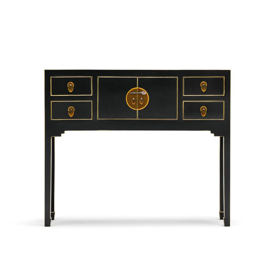 Oriental chinese console hall table in black oriental consoles oriental chinese console hall table in black geotapseo Gallery