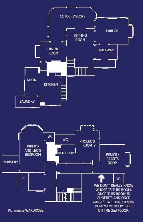 Halliwell Manor Floor Plans
