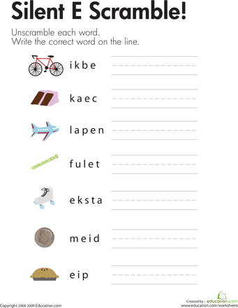 Silent | Words, Silent e and Worksheets