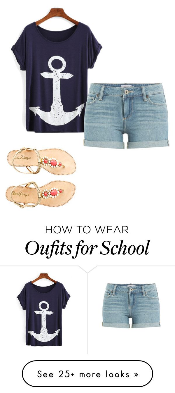 Last Day of School by tennisandprep on Polyvore featuring Paige Denim and Lilly Pulitzer Women's Running Gadgets - amzn.to/2iWkXcA Sports & Outdoors - Women's Running Gadgets - http://amzn.to/2kLC1Vf