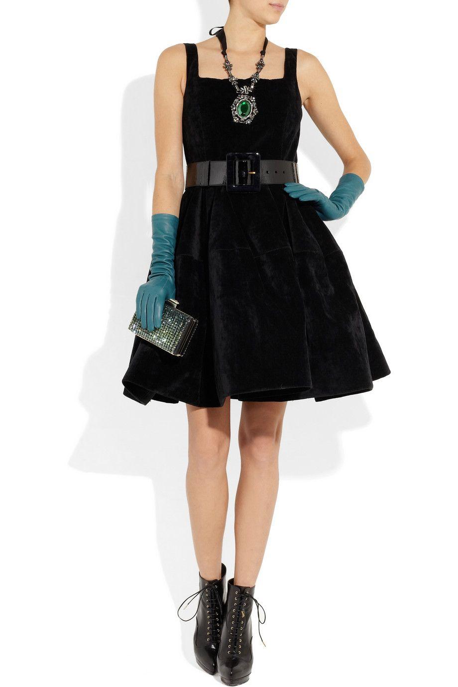 Sky Blue Long Leather Gloves Lanvin Black Velvet Dress Dress Gloves Fashion [ 1380 x 920 Pixel ]