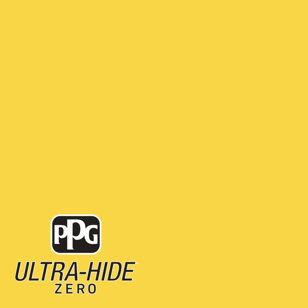 PPG 1 gal. #HDPY41D Ultra-Hide Zero Festival Yellow Eggshell Interior Paint-HDPY41DZ-01E - The Home Depot